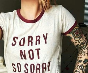tatto, moda, and sorrynosorry image