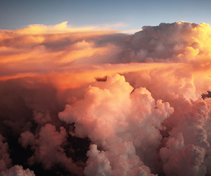 clouds, Flying, and seattle image