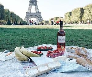 food, paris, and picnic image