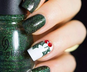 christmas, glitter, and green image