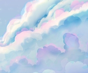 background, clouds, and pattern image