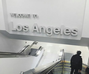 travel, los angeles, and airport image