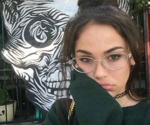girl, glasses, and maggie lindemann image