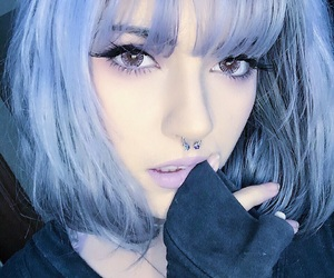 alternative, blue hair, and emo image