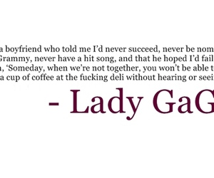 Lady gaga, quote, and text image