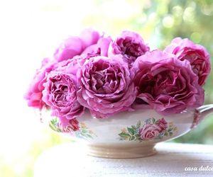 feminine, flowers, and vintage image