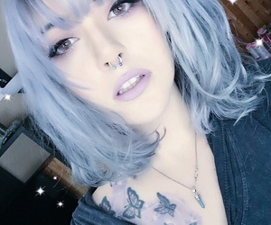 color and silver hair image