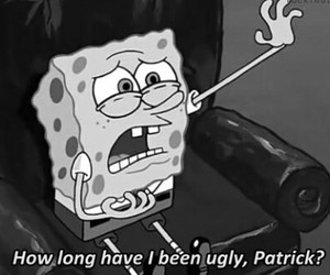 spongebob, ugly, and patrick image