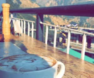coffee, mountains, and peace image