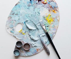 art, paint, and blue image