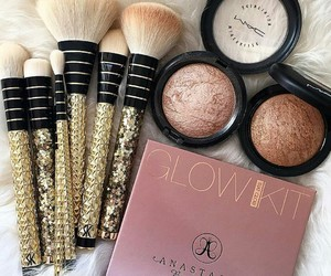 makeup, Brushes, and mac image