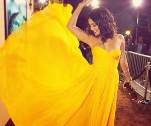 dress, yellow, and vanessa hudgens image