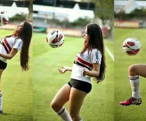 football, girl, and love image