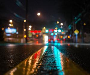 light, street, and night image