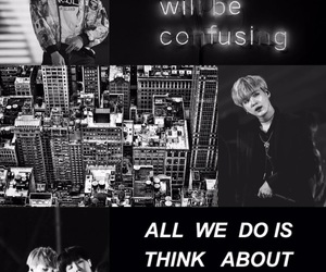 aesthetic, black and white, and bts image