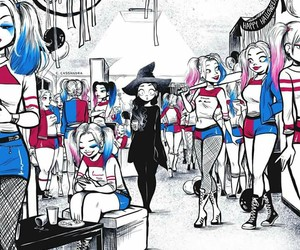 Halloween, harley quinn, and witch image