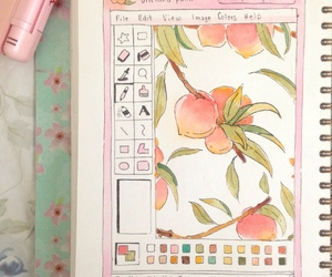 peach, pink, and drawing image