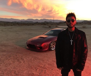 the weeknd, car, and starboy image