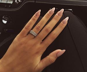 girl, nails, and ring image