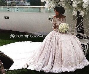 beauty, wedding, and girl image