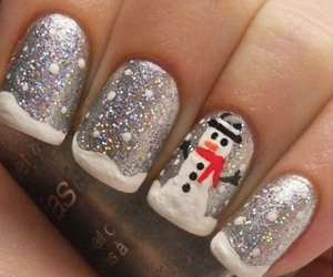 nails, winter, and snowman image