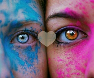 colours, double, and peoples image