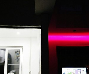 light, night, and pink image