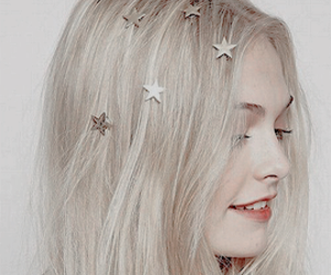 girl, stars, and hair image