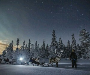 snow, finland, and winter image