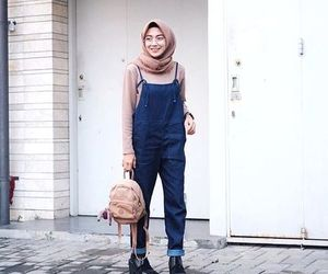 jumpsuit with hijab and overall with hijab image