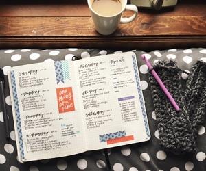 coffee, crochet, and bujo image