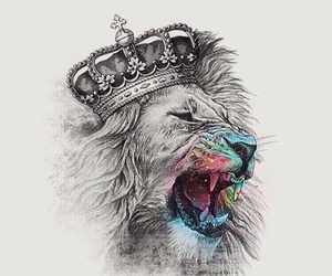 lion, king, and art image