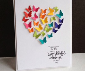 butterfly, card, and diy image