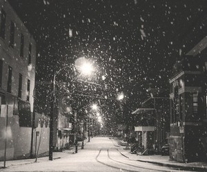 snow, winter, and night image