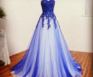 dress, prom dress, and blue image