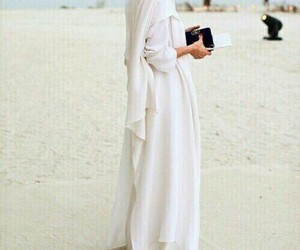 hijab, abaya, and dress image
