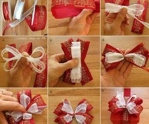 bow, gift, and diy image