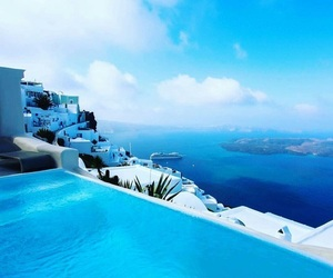 travel and santorini image