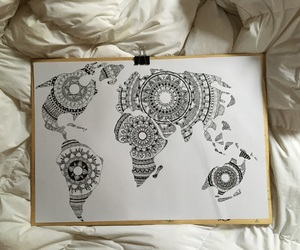 art, creative, and drawing image