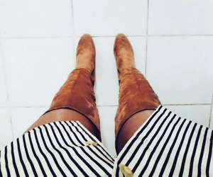 boots, over knees, and style image