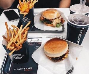 burger, coca cola, and coke image