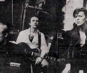 black and white, Brian Eno, and david bowie image