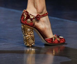 shoes, Dolce & Gabbana, and red image