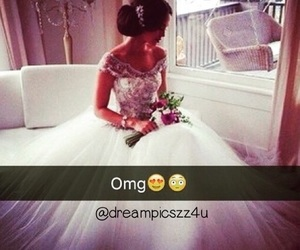 beauty, OMG, and wedding image