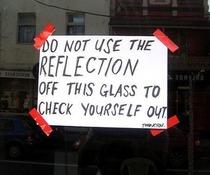 funny, reflection, and text image