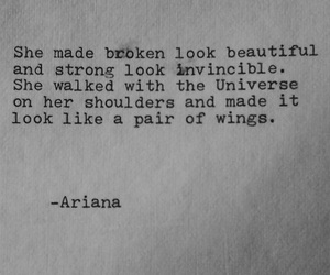 quotes, wings, and broken image