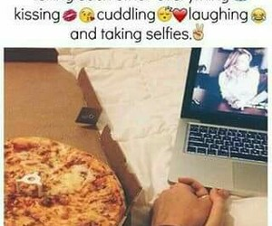 date, pizza, and love image