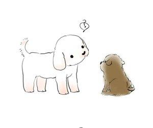 chibi, dog, and exo image