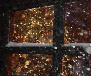 christmas tree, holidays, and lights image