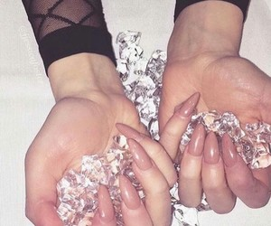 diamonds, fancy, and nails image